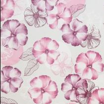 30x140cm Restje tafelzeil bloemen roze paarse tinten