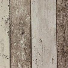 85x140cm Restje tafelzeil steigerhout bruin/beige
