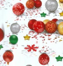 80x140cm Restje tafelzeil kerstbal ornament