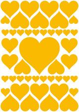 Autostickers hartjes geel