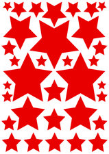 Autostickers sterren rood