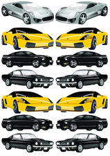 Autostickers auto's