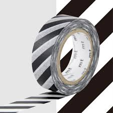 MT Masking tape strepen zwart