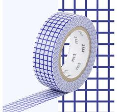 MT Masking tape ruitjes blueberry