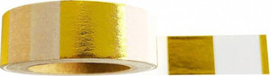 Studio Stationery Washi tape blok metallic goud/wit