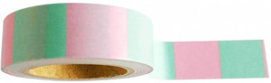 Studio Stationery washi tape blok mint/roze