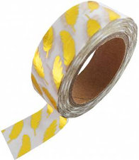 Studio Stationery washi tape gouden metallic veertjes