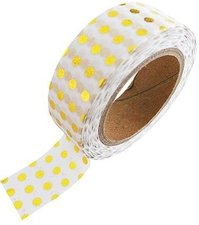 Studio Stationery Washi tape goud metallic stippen