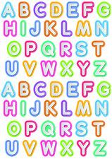 Fietsstickers gekleurd alfabet
