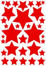 Fietsstickers sterren rood