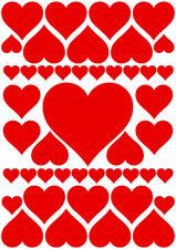Fietsstickers hartjes rood