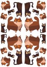 Fietsstickers chubby cat