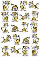 Fietsstickers grappige luipaardjes