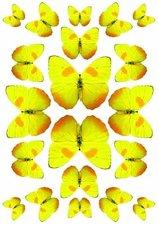 Fietsstickers vlinders geel