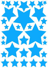 Autostickers sterren hemelsblauw