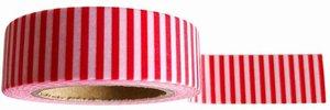 Studio Stationery X Pip Washi tape streep rood/wit
