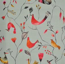 45x140cm Restje tafelzeil vogeltjes mint