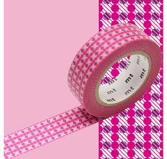 MT Masking tape strepen en stippen roze
