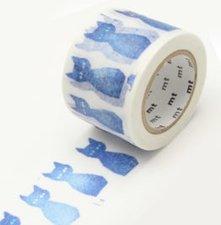 MT Masking tape kuro neko blauwe kat