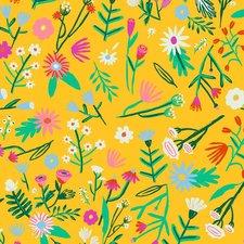 100x140 cm Restje Mexicaans tafelzeil bloemen geel