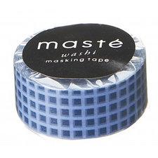 Masking tape Masté marine blauw geblokt