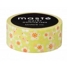 Washi tape Masté pruim bloem groen