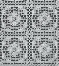 45x140cm Restje kant tafelzeil wit gehaakt patroon