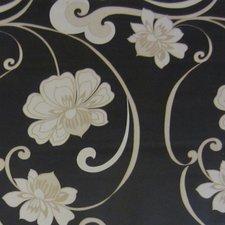 45x140cm Restje tafelzeil morgana bloemen zwart