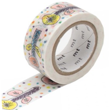 MT Masking tape flower white