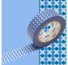 MT Masking tape strepen en stippen blauw