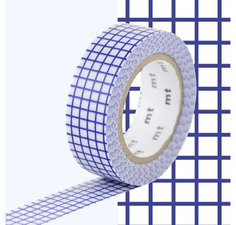 MT Masking tape ruitjes blueberry