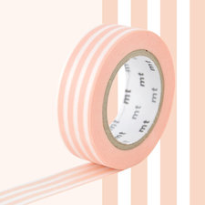 MT Masking tape border peach creme
