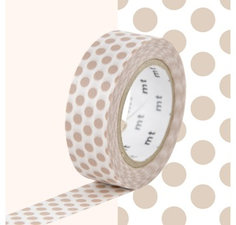 MT Masking tape chocolade melk stippen