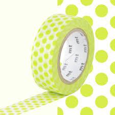 MT Masking tape lime groene stippen