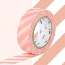 MT Masking tape strepen zalm roze