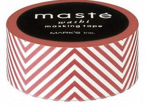 Masking tape Masté strepen bordeaux rood