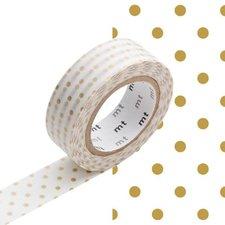MT Masking tape dot S gold