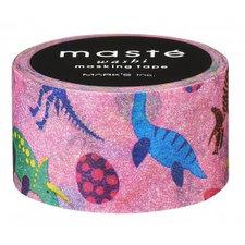 Washi tape Masté roze tape met Dinosaurus