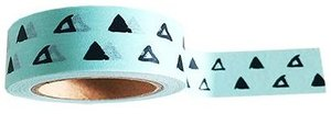 Studio Stationery Washi tape triangle love mint