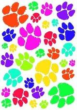 Fietsstickers kattenpootjes