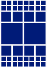 Fietsstickers vierkanten blauw