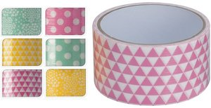 Duct tape print driehoek roze