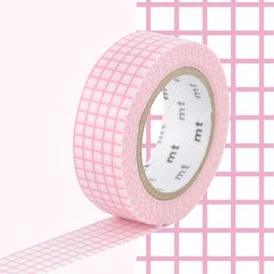 MT Masking tape ruitjes sweet roze