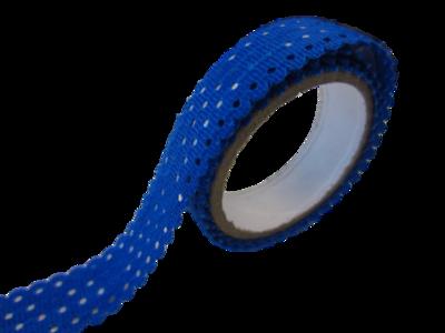 Tape met kant blauw