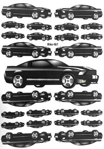 Fietsstickers auto zwart 167