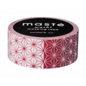 Masking tape Masté Asanoha motief rood en wit