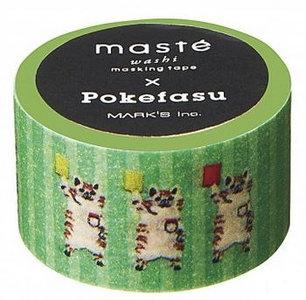 Masking tape Masté wasbeertjes groen