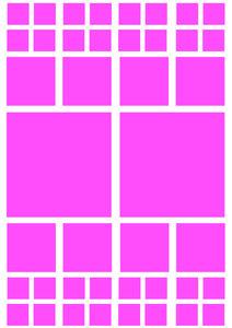 Fietsstickers vierkanten roze