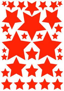 Fietsstickers sterren oranje