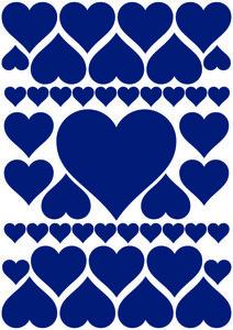 Autostickers hartjes blauw
